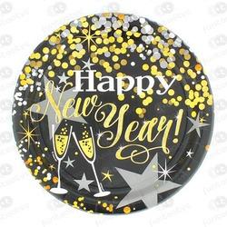 PLATO CARTÓN HAPPY NEW YEAR MESA DULCE