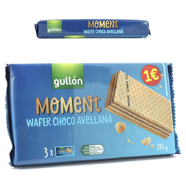 GULLON MOMENT WAFER CHOCO AVELLANA